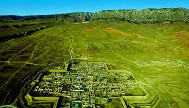 """航拍镜头下的甘肃藏区高原""""八角古城"""""""