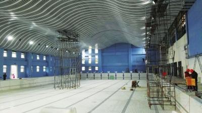 兰州全民健身中心项目主体结构封顶