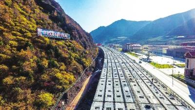 渭武高速公路建设有序推进(图)