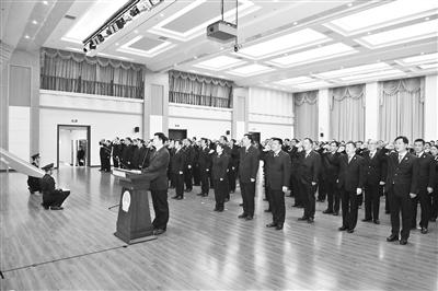 甘肃省高级人民法院举行机关工作人员宪法宣誓仪式(图)
