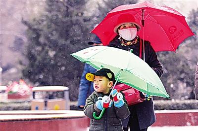 关注陇原首场瑞雪:新年首场雪就这么欢快地来了