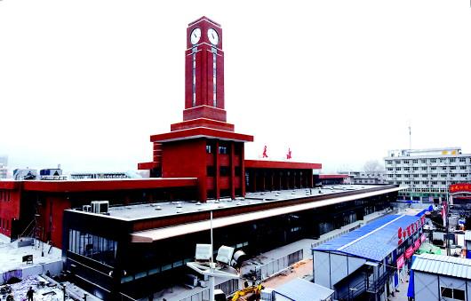 天水火车站站房改扩建工程主体工程已基本完工
