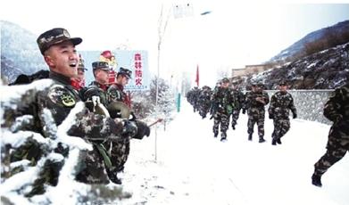 甘肃省森警开展冬季野营拉练