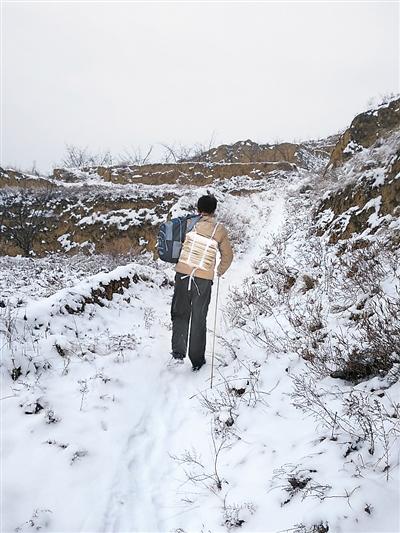 图说甘肃丨雪地里最美的身影