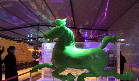 武威市首届冰雕艺术文化节启幕