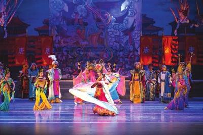 甘肃省京剧团打造的京剧《丝路花雨》全国巡演西安站落幕