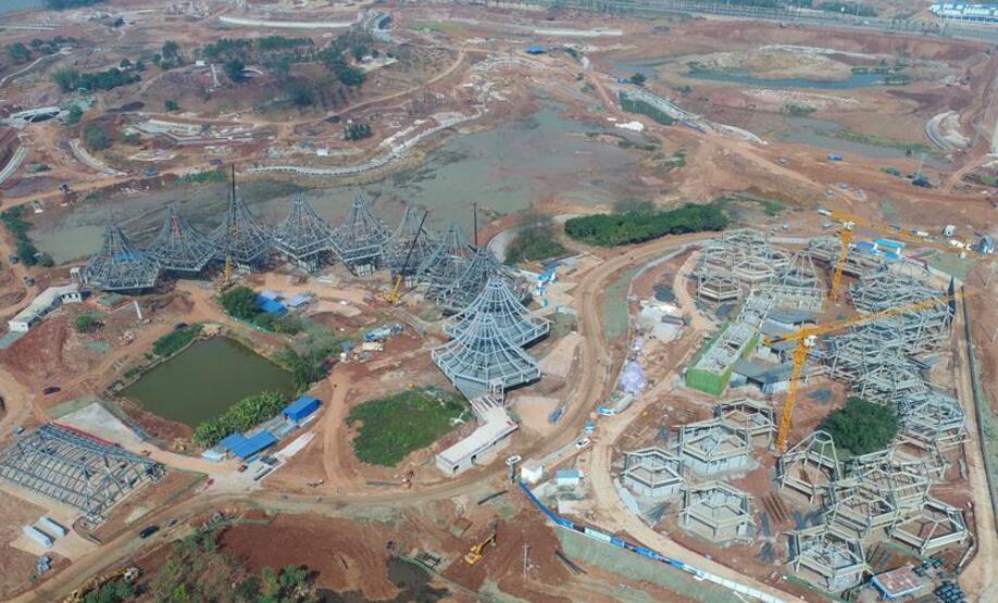 第十二届中国(南宁)国际园林博览会工程进展顺利