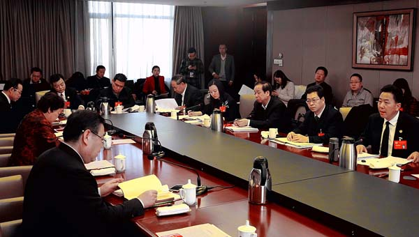 政协甘肃省十二届一次会议召开小组会议(组图)
