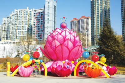 """兰州安宁区筹备 """"幸福安宁""""灯展 打造春节游玩好去处(图)"""