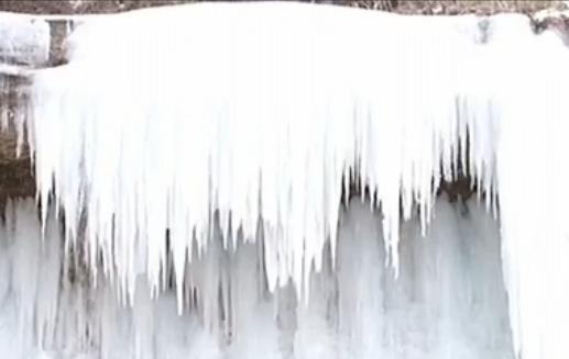 庆阳市发现一处大型冰瀑群