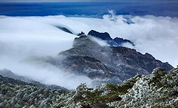 极寒天气来袭:黄山之巅云海雾淞美翻了游客