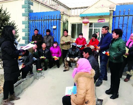 酒泉肃州区:干部为村民宣讲党的十九大精神(图)