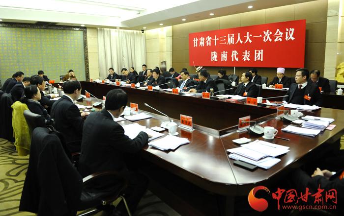 甘肃省第十三届人大一次会议各代表团审议人大、法院、检察院工作报告(组图)