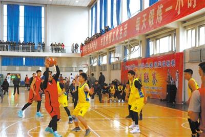 甘肃省第一届中学生校园篮球联赛开赛(图)