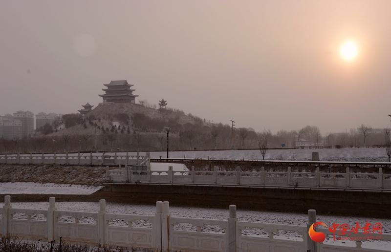 张掖临泽:流沙河景区雪后美如画