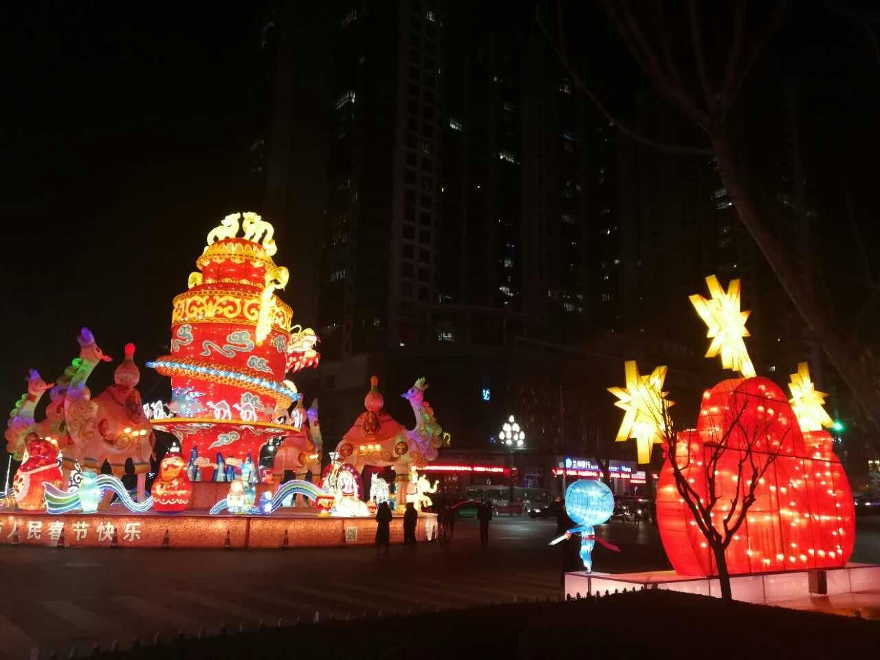 """兰州石化助力西固区政府打造春节灯会""""盛宴"""""""