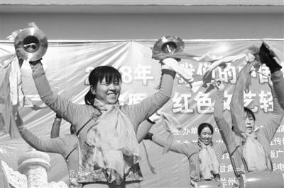 """""""红色文艺轻骑兵"""" 走进兰州榆中县小岔村(图)"""
