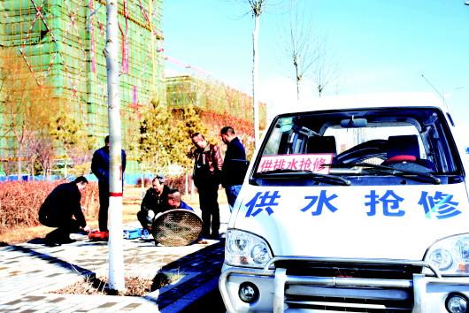 【新春走基层】春节我在岗:保障市民正常用水(图)