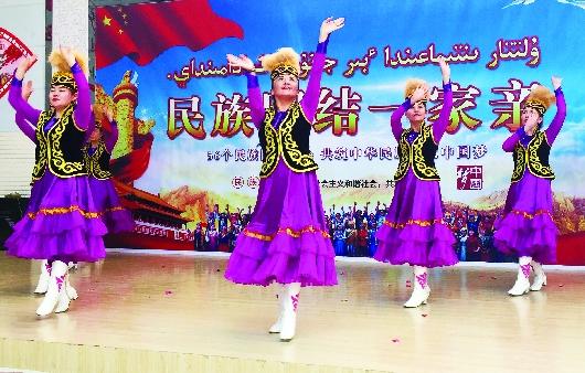 酒泉阿克塞哈萨克族自治县开展庆三八活动(图)
