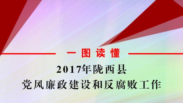一图读懂:2017年陇西县党风廉政建设和反腐败工作