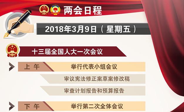 """3月9日:人代会举行第二次全体会议听取和审议""""两高""""报告"""