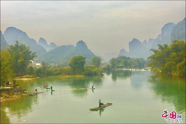 阳朔:遇上遇龙河,遇上美丽画卷(图)