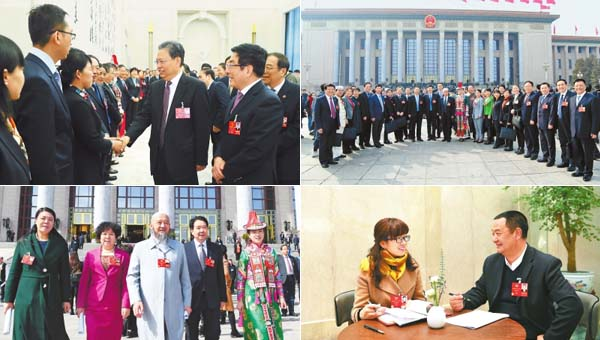 奋进新时代——甘肃省代表委员参加全国两会掠影