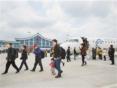 陇南成县机场正式通航(图)