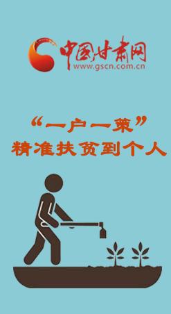 """图解:甘肃""""一户一策""""助力脱贫攻坚"""