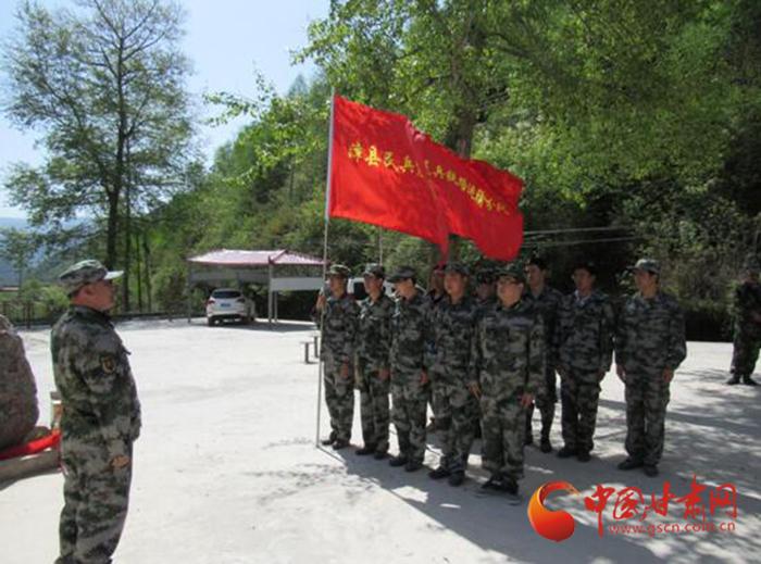 定西市漳县殪虎桥镇民兵训练实现常态化