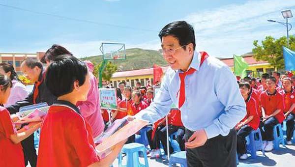 林铎寄语全省少年儿童 争当社会主义事业合格接班人