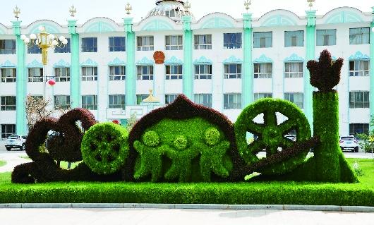 酒泉肃北县启动实施县城园林绿化景观改造提升工程(图)