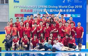 跳水世界杯:中国队包揽全部金牌