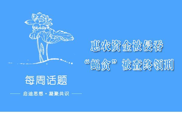 """【每周一案】惠农资金被侵吞 """"蝇贪""""被查终领刑"""