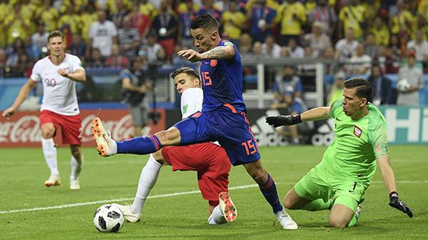 【世界杯】哥伦比亚队3比0胜波兰队