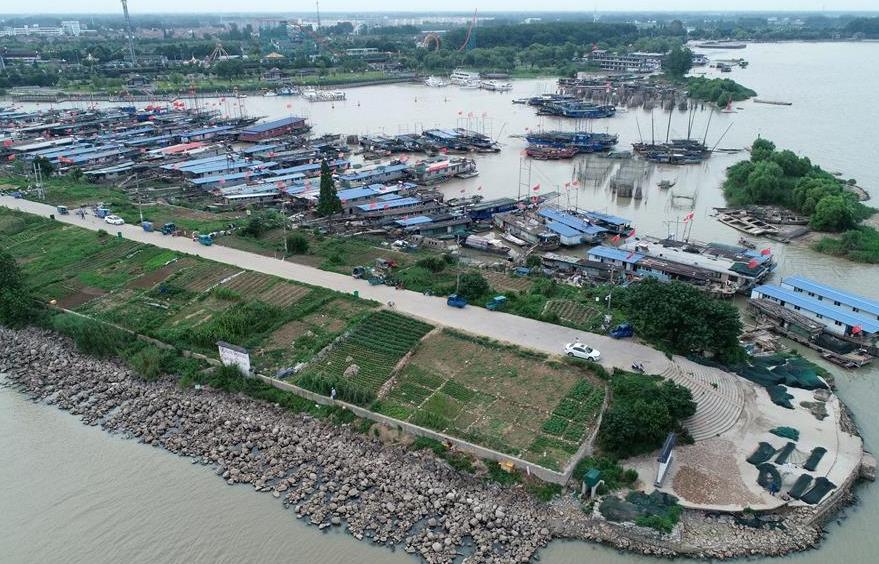 江苏洪泽湖出现低水位
