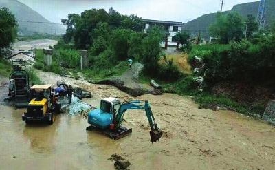 天水武山遭遇50年未遇特大洪水