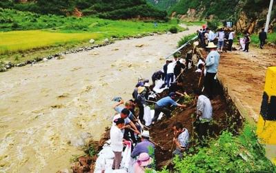 天水多地遭受洪涝灾害 省市县全力组织救灾工作