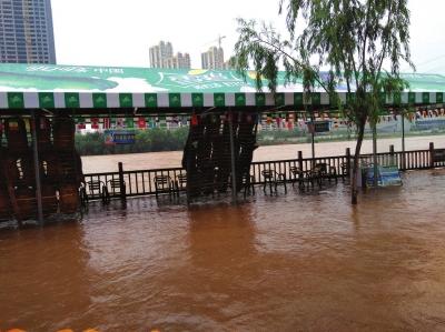 黄河兰州段水流量持续增大 水车园无恙
