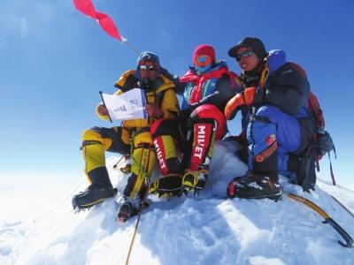 兰州姑娘高小丹与记者面谈海拔8463米上的那些事儿