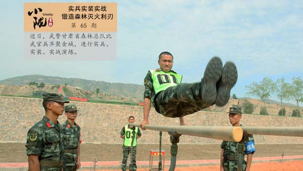 小陇画报|武警森林官兵实兵实装实战 锻造森林灭火利刃(65期)