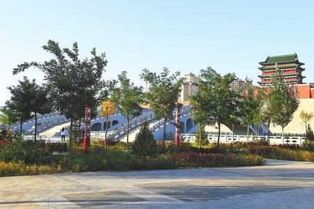 白银市会宁县加快城区绿化步伐(图)