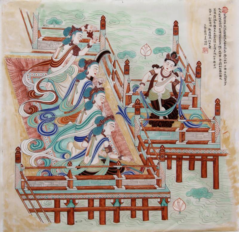 中唐舞乐图(159窟)