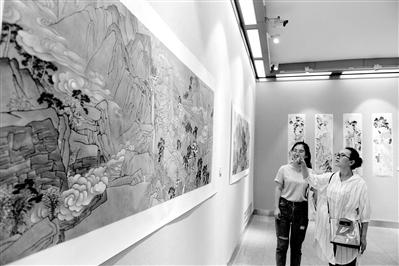 张怀月国画作品全国巡回展亮相金城