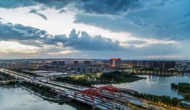 """兰州新区""""千塘百湖""""生态效益凸显 现代新城引民乐居"""