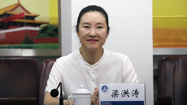 梁洪涛一行赴新华社甘肃分社考察学习(图)