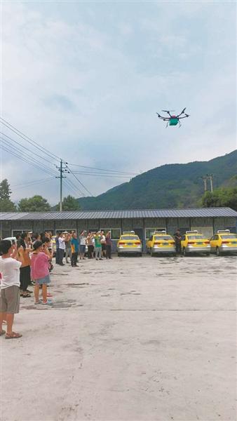 甘肃首条无人机邮路开通