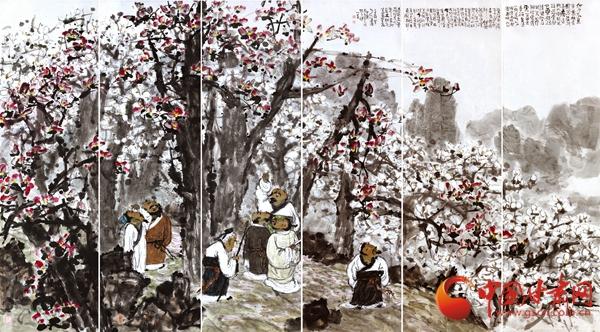 霑手花香·何多俊中国画作品展在兰举办(组图)