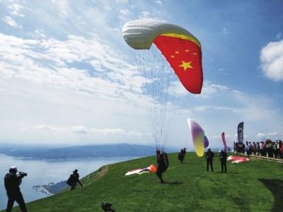 全国滑翔伞健儿逐梦永靖黄河三峡!