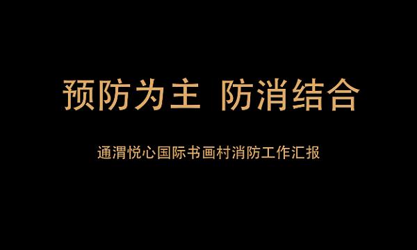 """""""119""""消防奖先进集体——通渭悦心国际书画村"""